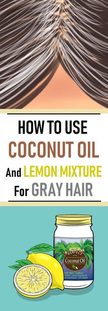 coconut oil for gray hair